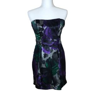 Speechless Strapless Floral Cocktail Dress Size 7